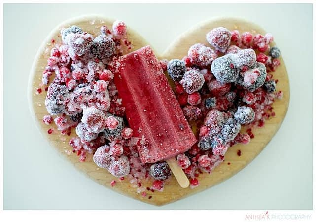 frozen berry heart desert| Anthea Kirkman Wedding Photographer