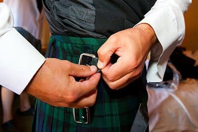 scottish wedding in perth kilt