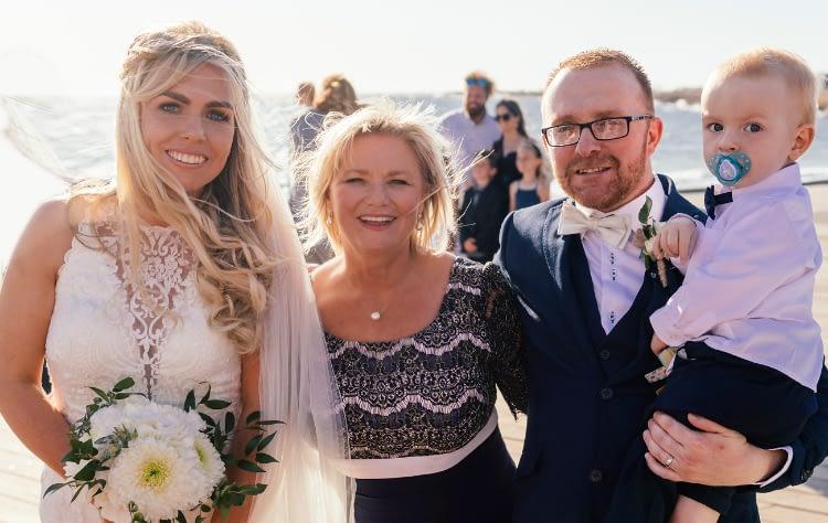 Beach Wedding Feature : Joyce Mathers Celebrant