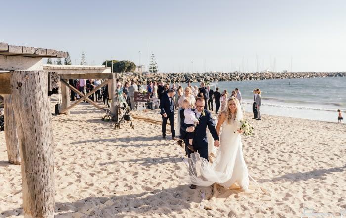 Beach Wedding Exit2 : Joyce Mathers Celebrant